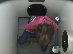Shameless girls showing their pussies while they pee in public